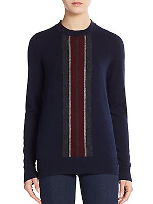 Regimental Stripe Cashmere Sweater