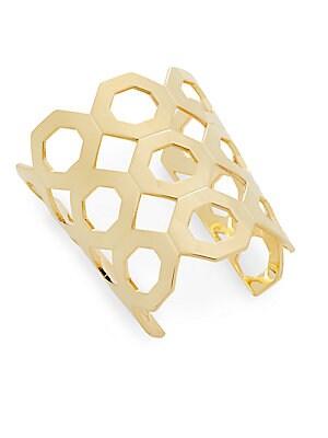 Geo Block Cutout Cuff Bracelet