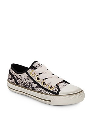 Vicky Snake-Print Sneakers