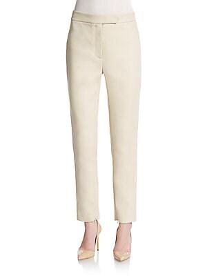 Cotton & Silk Stripe Pants