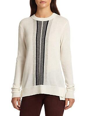 Regimental Striped Cashmere Sweater