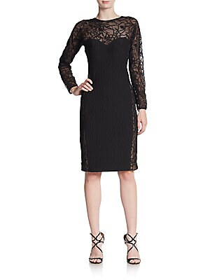 Quilted Contrast Contrast Sheath