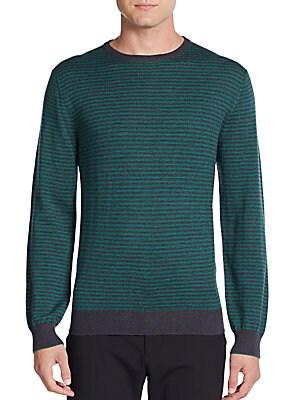 Striped Merino Wool Crewneck Sweater