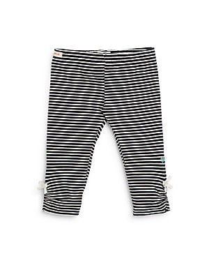 Infant's Striped Ruched Leggings