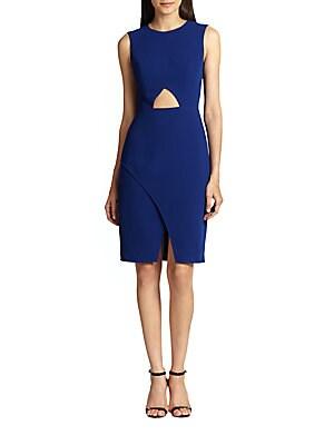 Cutout Crepe Dress