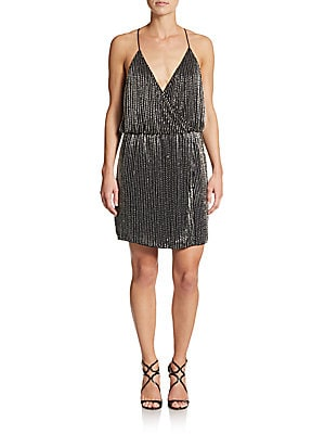 Catarina Beaded Wrap Dress