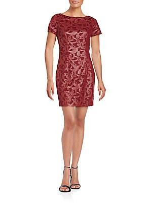 Lasercut Lace Shift Dress