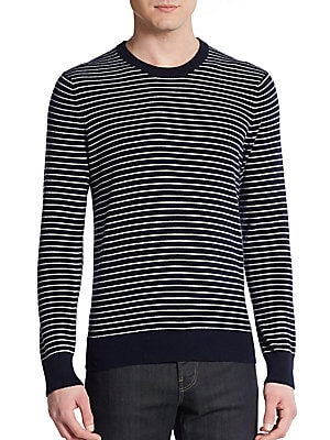 Luxe Striped Wool/Cashmere Sweater