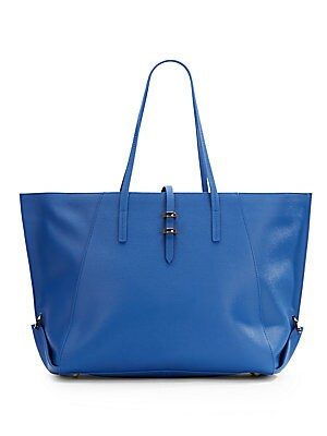 Eartha Leather Shopper Tote