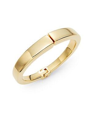 Yasue Hinged Bangle Bracelet/Goldtone