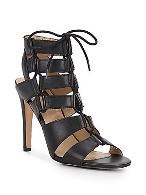Tyler Leather Lace-Up Sandals