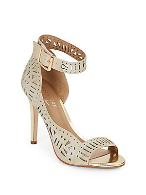 Bali Laser-Cut Leather Ankle Cuff Pumps