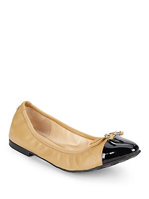 Leather & Patent Ballet Flats