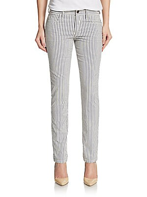 Blueberry Striped Slim Relaxed-Fit Jeans