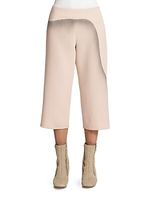 marc jacobs female printed wool cropped pants