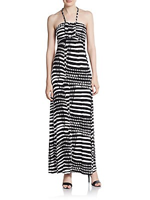 Braided Halter Maxi Dress