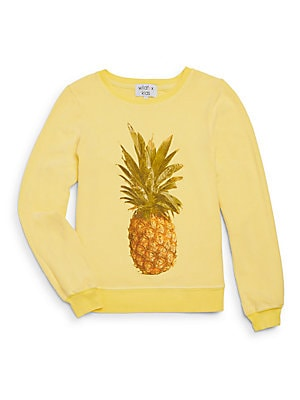 Girl's Pineapple Graphic Sweatshirt