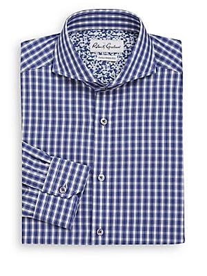 Tailored-Fit Firenze Plaid Dress Shirt