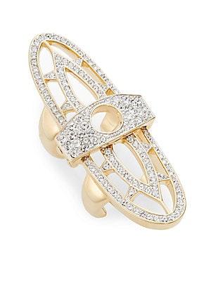 Renaissance Pavé Hinged Shield Ring