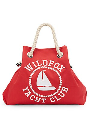 Reversible Canvas Beach Bag