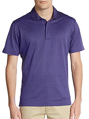 Classic-Fit Textured Cotton Polo