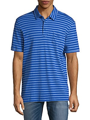 Slim-Fit Striped Pima Cotton Polo Shirt