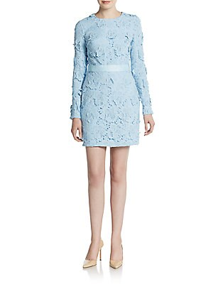 3D Embroidered Floral Lace Sheath Dress