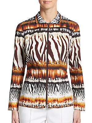 Kirsi Animal-Print Blouse