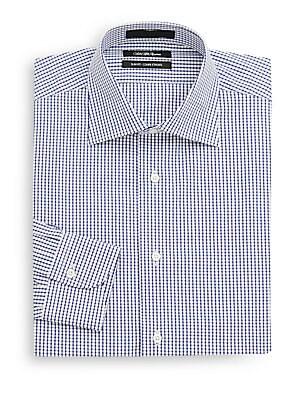 Slim-Fit Windowpane Dress Shirt
