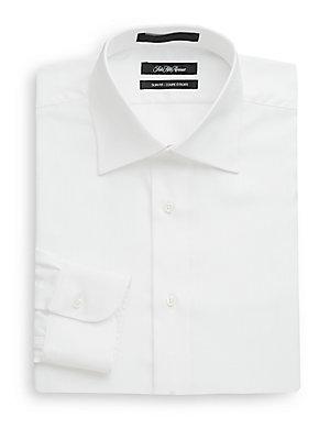Slim-Fit Tonal Striped Dress Shirt