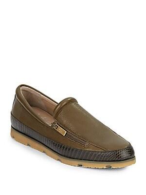 Paulin Leather Slip-On Sneakers