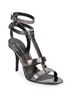 Grand Metallic Leather Sandals
