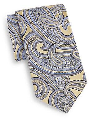 Boxed Paisley Silk Tie