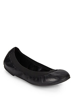 Hypnotic Leather Ballet Flats