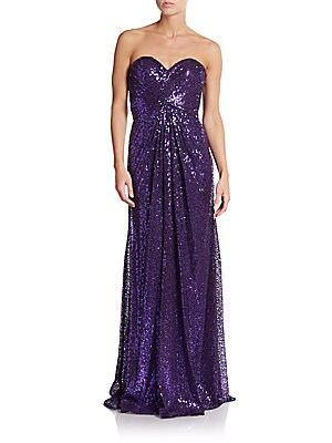 Strapless Sequined Gown