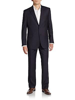 Regular-Fit Tonal Pinstriped Wool Suit