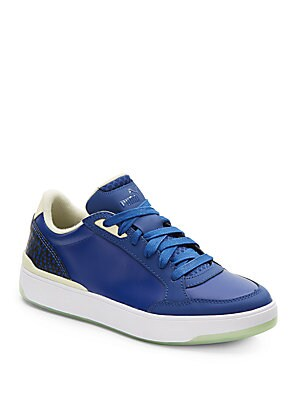 Brace Leather Low-Top Sneakers