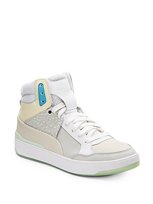 Brace Leather High-Top Sneakers