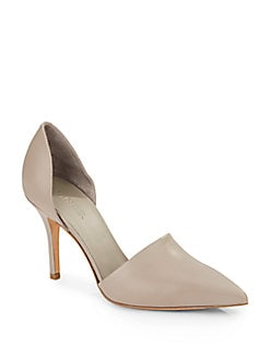 Claire Leather Point Toe D'Orsay Pumps