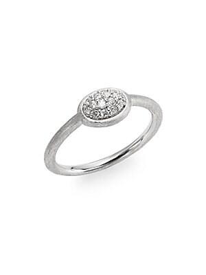 Soho Diamond & Sterling Silver Oval Ring