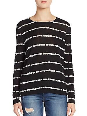 Dorianna Shibori Striped Cashmere Sweater
