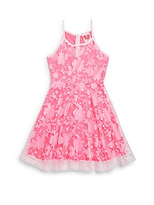 Girl's Floral Lace Fit-&-Flare Dress