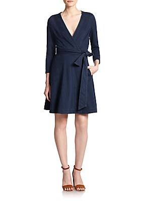 Christa Denim Wrap Dress
