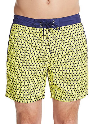 Geometric-Print Swim Shorts