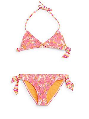 Girl's Fern Print Bikini