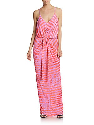 Twisted Tie-Dye Maxi Dress
