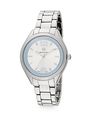 Sport Silvertone Stainless Steel Bracelet Watch