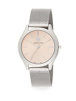 Silvertone Mesh Bracelet Watch