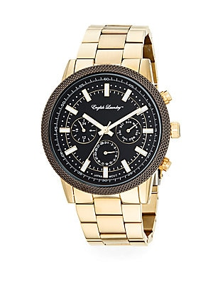 Goldtone Stainless Steel Chronograph Bracelet Watch