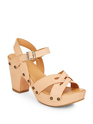 Deborah Leather Studded Sandals